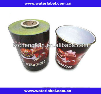 In-mould label/IML plastic packaging for plastic trash can