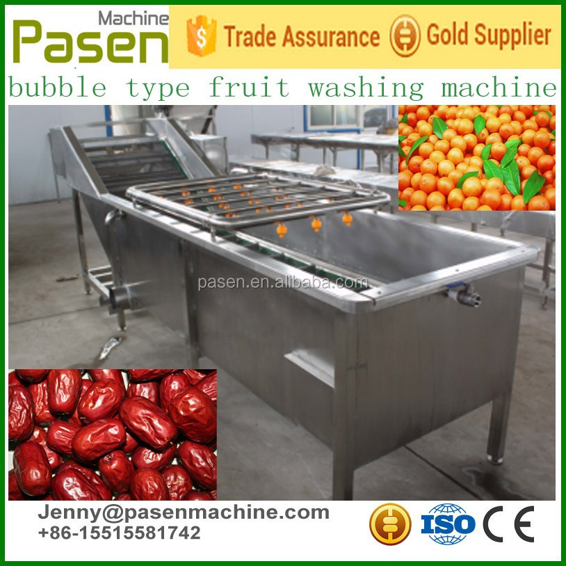 Bubble washing for vegetable fruit/fruit washing machine/industrial fruit washing machine