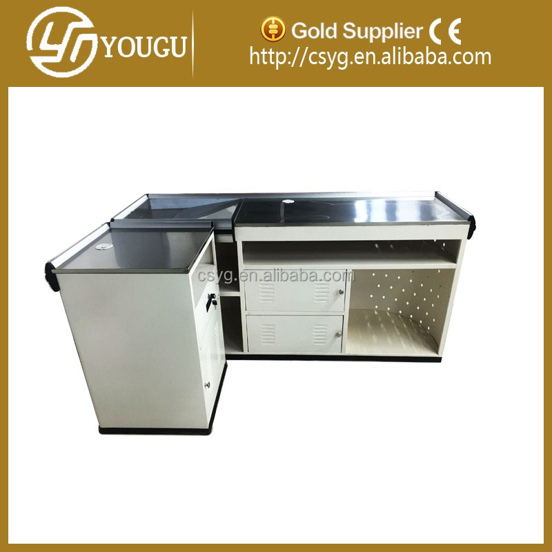 2016 Customized OEM design Store Checkout Counter for Sale