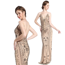 Competitive price woman heavy beaded long party wear evening dresses gown