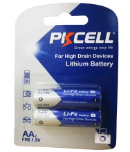 High Quality Shenzhen PKCELL 1.5v Non Rechargeable 2900mah Li-Fe FR6 aa lithium battery for electric device