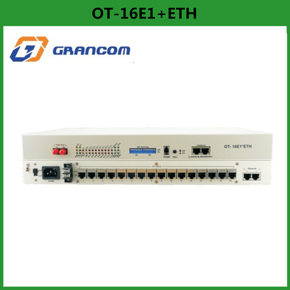 Grancom OT-16E1*ETH PDH optic fiber multiplexer