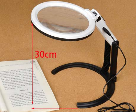 10 LED Table Lamp Desktop Magnifier New Product,LED Power Supply Glass Magnifier Free Sample with Gift Box China Suppliers