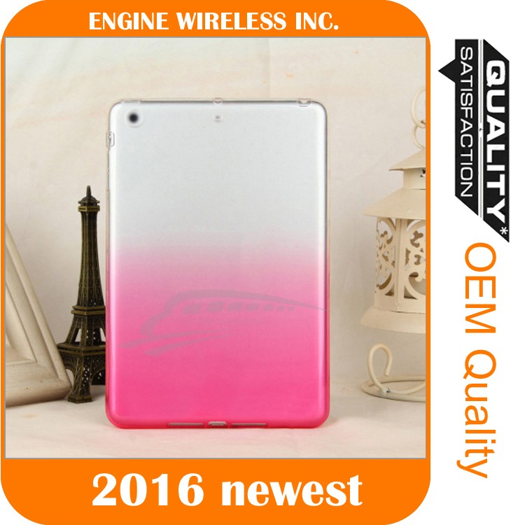 ultra slim tpu colorful case for ipad air 2 cover