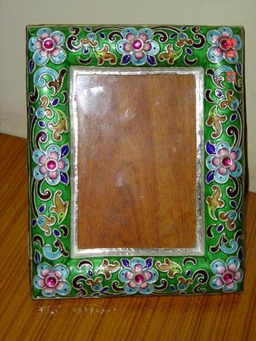 Enamel Silver Photo Frame