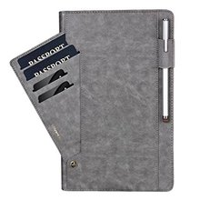 Premium PU Leather Pouch Vintage Folio Stand Bumper Case Cover with Card Slot [ Pen Holder ] for Galaxy Tab A 10.1 Tablet