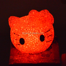 LED EVA kitty head gift for decoration,EVA kitty head with colorful flashing night light