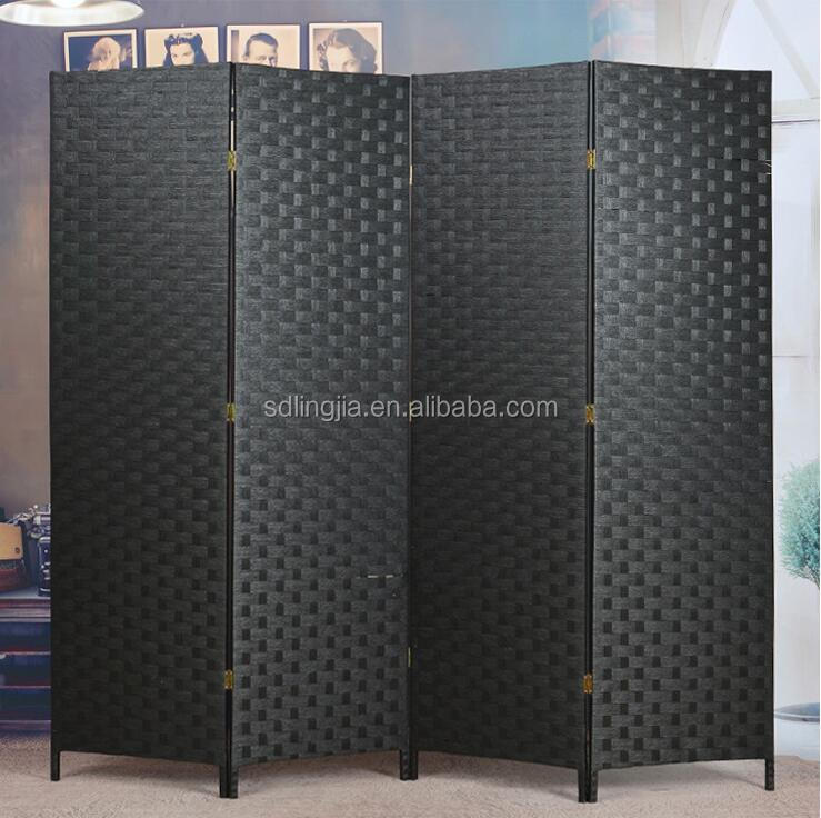 Paper Rope Folding Screens Clear Partition Fancy Room Dividers