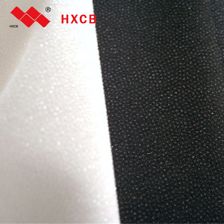 Coated 100% Polyester Adhesive Fusible Weft Knitted Woven Interlining Lining Fabric For Suits