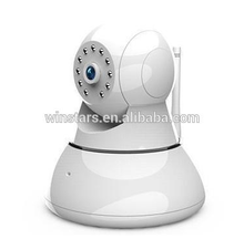 Pan-Tilt 720P Rotatable Wireless Surveillance Cloud Network IP Camera with Secure Digital Memory Card