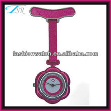 2013 new recommended best selling waterproof nurse watch used for hospital doctors pink colour