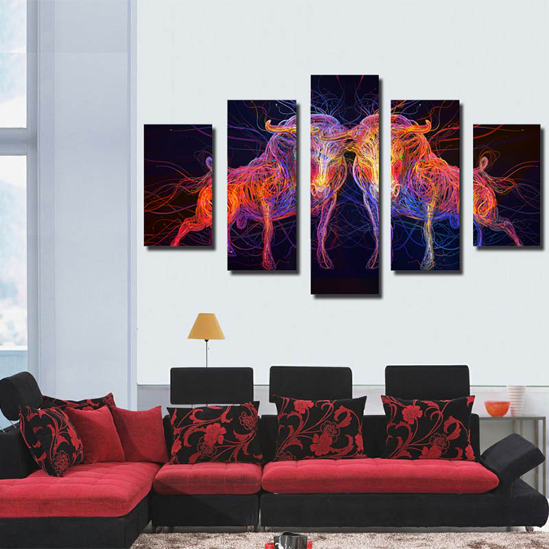 Fashion Home Decorations Modern wall art Beautiful flowers Decoration Modern ink Painting