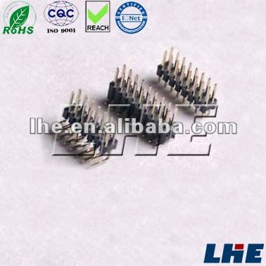 PCB PIN Header Pitch 1.27mm 2.0mm 2.54mm ROHS Quality over 0.8u Gold plated