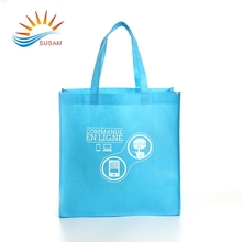 Promotional Imprinted fabric custom eco non woven t shirt bag for shopping