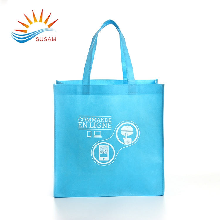 Promotional Imprinted fabric custom eco nonwoven t shirt bag for shopping