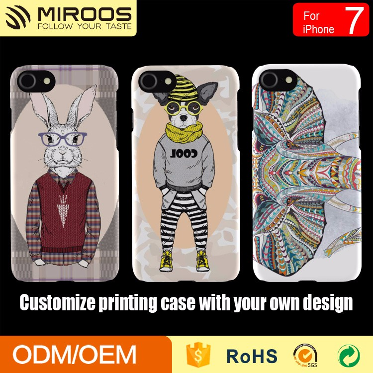 Custom printing mobile phone case cover for iphone 7 6 5 as christmas gift