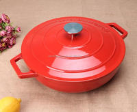 safety eco-friendly round red cast iron enamel casserole
