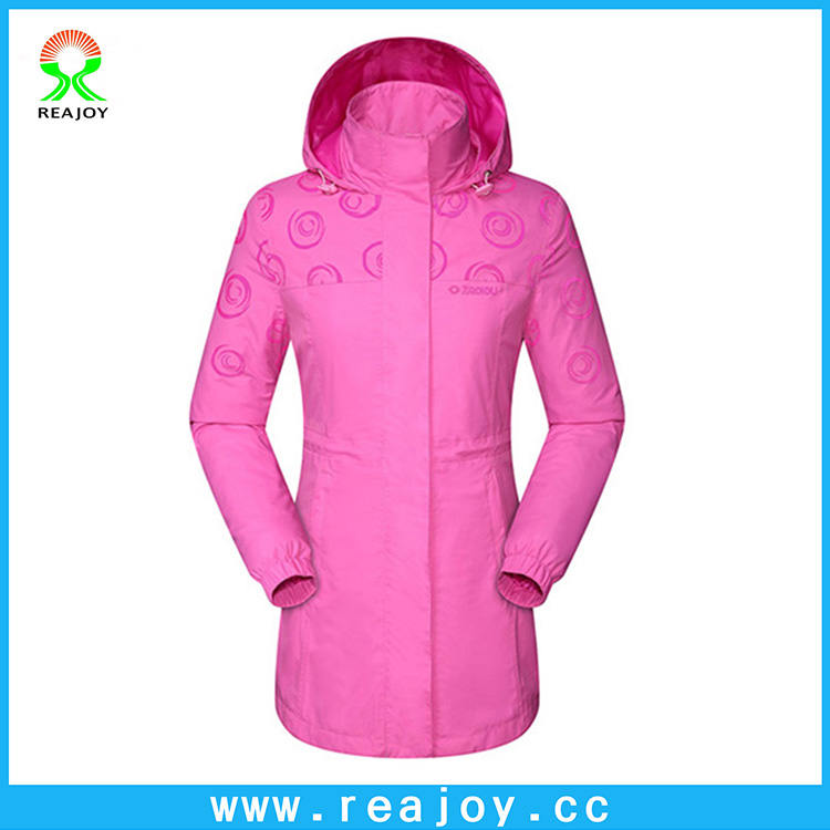 Fashionable women slim windproof reflective nylon windbreaker