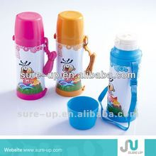 baby glass thermos 0.5l/1l plastic vaccum flask glass refilled babybottle