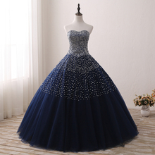 sparkly sleeveless ball gown prom dress beaded floor length corset prom dress tulle quinceanera ball gown dress