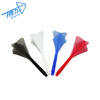 Muti-shape Darts Accessories Colorful Plastic Flights with Thread