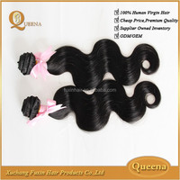 Unprocessed virgin hair body wave double weft indian human hair sally beauty supply hair extensions
