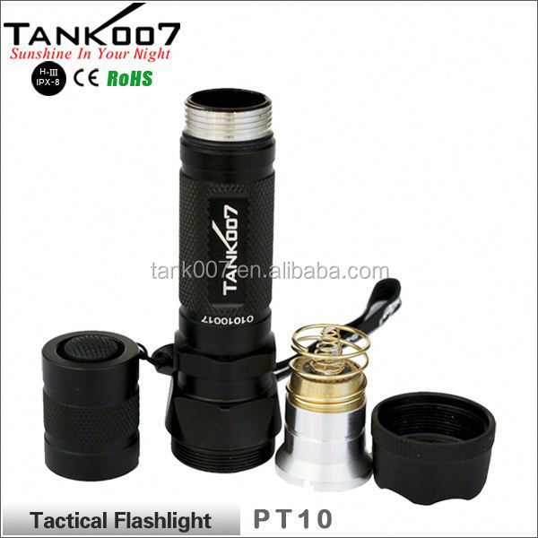 Tactial Flashlight Police LED Torch CREE XM-L T6 manual rechargeable flashlight
