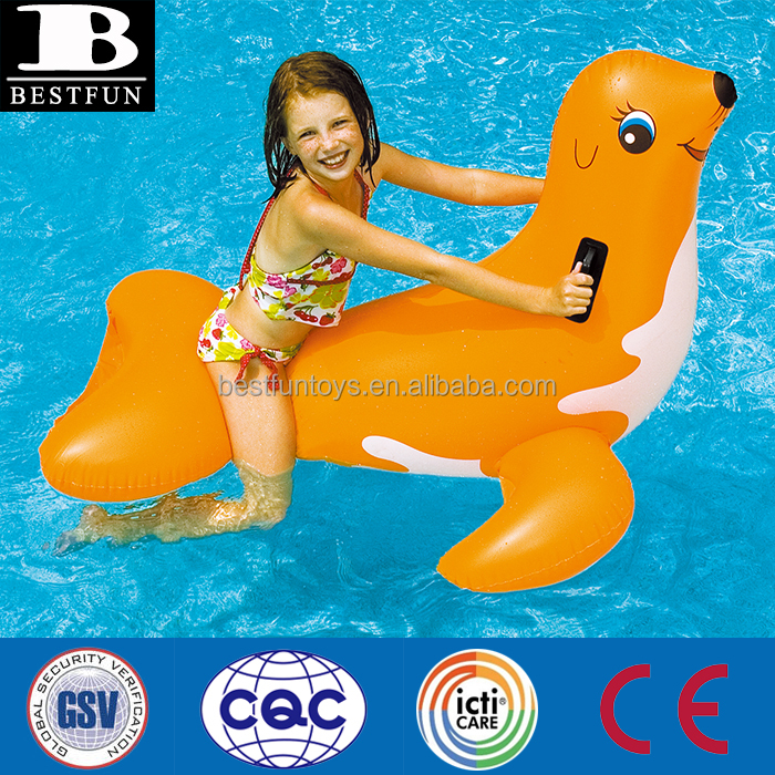 High Quality Jumbo Inflatable Seal Ride On Swiming PVC Toys Animals Seal Rider