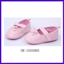 SR-15SS085 2015 newborn fancy wholesale baby moccasin shoes fashion fancy baby girls shoes chian cheap wholesale kids shoes