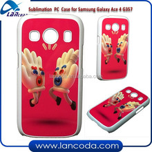 2015 new 2d sublimation cover for Samsung Galaxy Ace 4 G357 PC Case,sublimation mobile phone cover,sublimation cell phone case