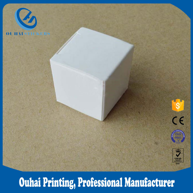white color small gift boxes 250 gsm paper box packaging