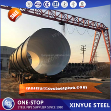 x52 spiral steel pipe used in oil and gas line / pe lined steel pipe submereged steel pipe