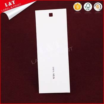 Customized Recycled Coated Paper Custom Garment Hangtag