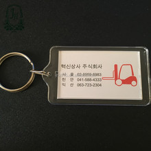 plastic keychain photo holder blank keychain with custom printed logo clear charms