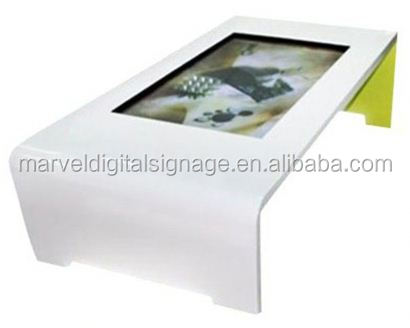 flat waterproof multi points touch screen menu restaurant touch table