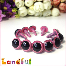 12mm Cute Puppet Toys Crochet Baby Doll Pink Plastic Safety Eyes