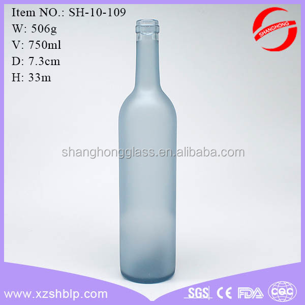 free shipping 750 ml frosting bottle wine bottle for sale
