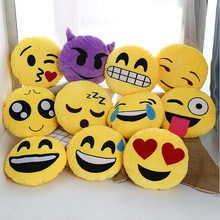 emoji pillow 30cm plush pillows QQ Smiley Emotion Soft Decorative Cushions Stuffed Plush Toy Doll Christmas Gift Cute pillow