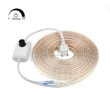 220v waterproof continuous length 100m, flexible light 5050 smd led strip 50m 100m/roll LED Strip warm white/white with dimmer