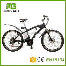 Top/OEM brand CE 250W green fast Electric Mountain Bike with 10ah lithium battery