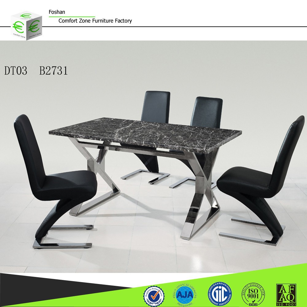 Dt03 8 Seater Glass Marble Dining Table 6 Chairs Set For Sale