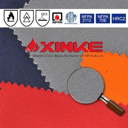 NFPA certified 100 cotton woven fire safety fabric supplier for garment factory