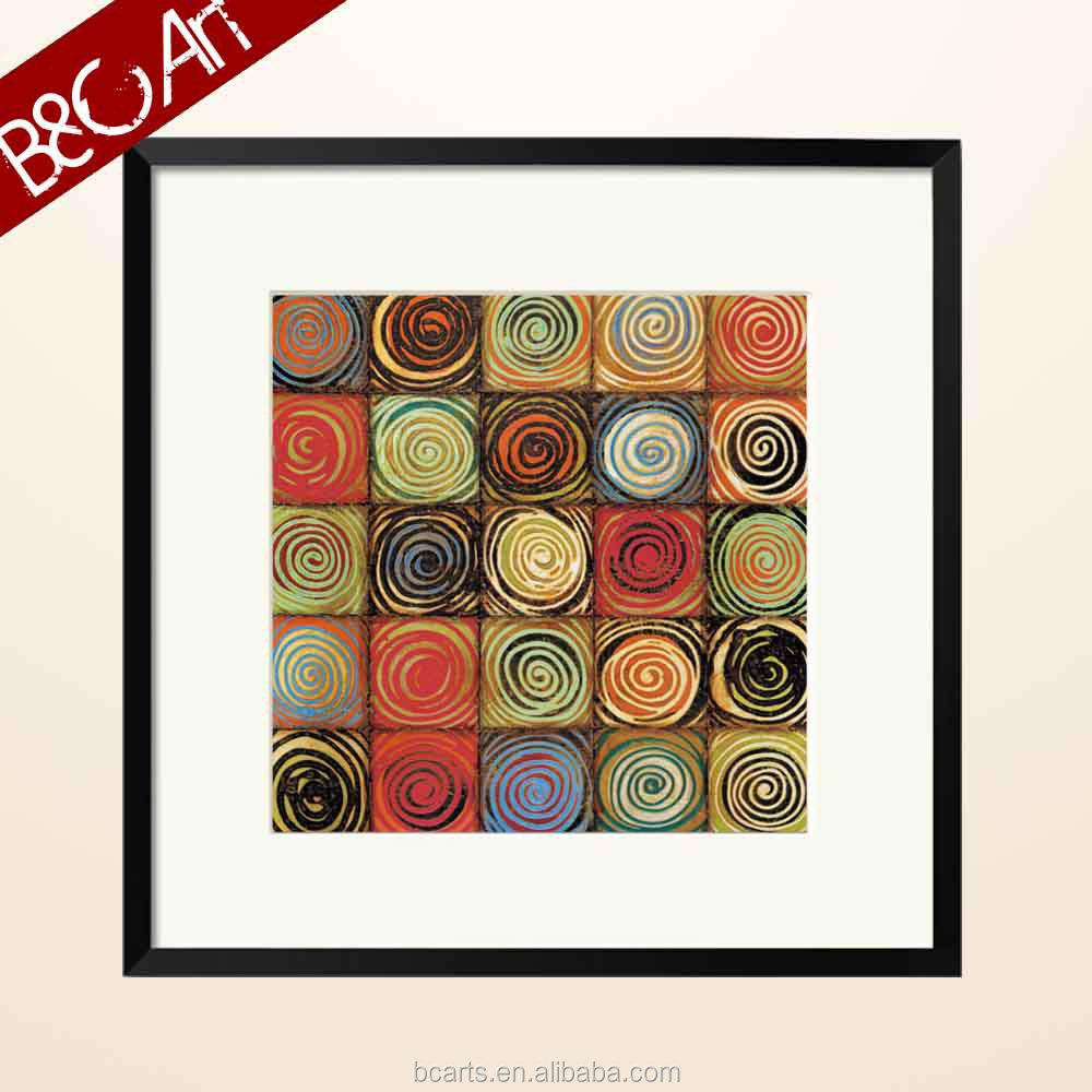 Colorful circles for kids room oil painting