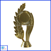 custom 2D metal trophy part with wheat