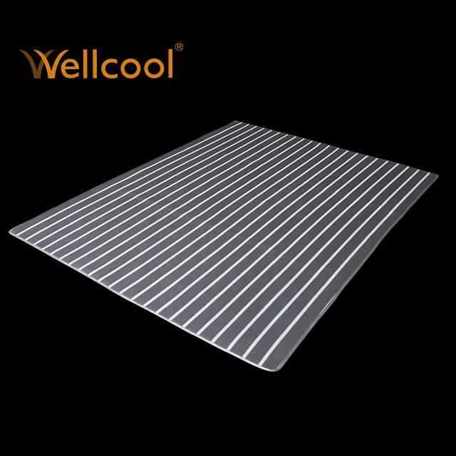 Washable bedding supplier striped gray 3d spacer mesh mattress pad in custom size - Jozy Mattress   Jozy.net