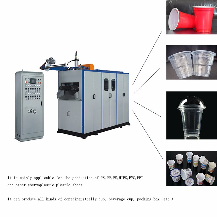Automatic custom ice cream plastic cup making machine