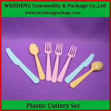 Factory sales directly Cheap Plastic Handle Cutlery/Plastic cutlery for camping eating