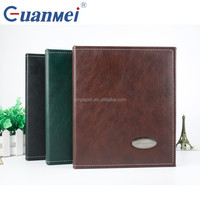 Black/green/brown PU Leather 4X6 PP Photo Album With 4R 2up 20 Sheet photo album