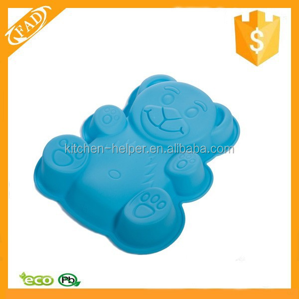 Practical Simple and Healthy Custom Silicone Teddy Bear Baking and Crafts Mold