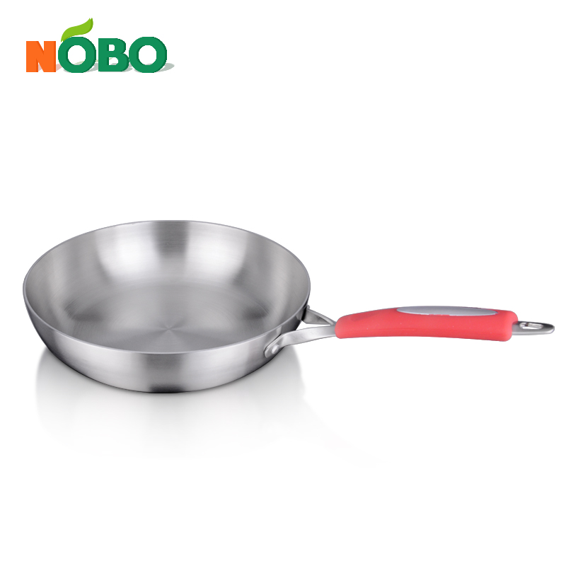 3 PCS high quality stainless steel stock pot set frying pan set with colored handle